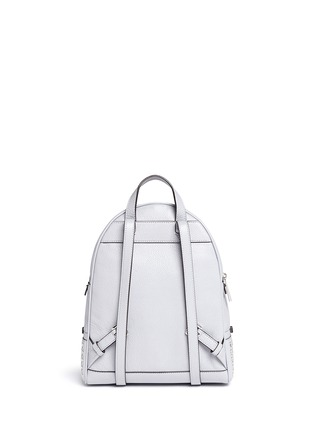 Back View - Click To Enlarge - Michael Kors - 'Rhea' small grommet leather backpack