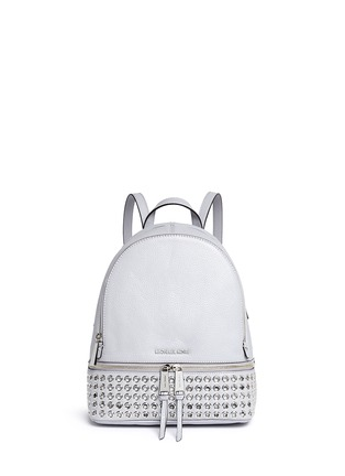 Main View - Click To Enlarge - Michael Kors - 'Rhea' small grommet leather backpack