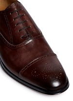 'Alameda' full brogue leather Oxfords