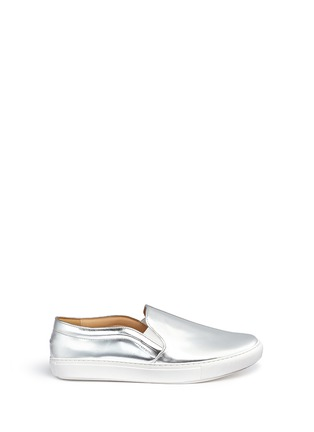 Main View - Click To Enlarge - Bing Xu - 'TriBeCa' mirror leather skate slip-ons