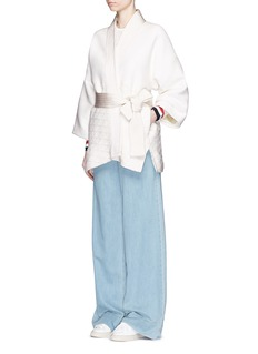 HILLIER BARTLEYContrast waffle stitch judo jacket
