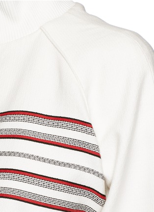 Detail View - Click To Enlarge - Hillier Bartley - Stripe embroidery zip track jacket