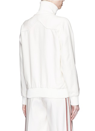 Back View - Click To Enlarge - Hillier Bartley - Stripe embroidery zip track jacket