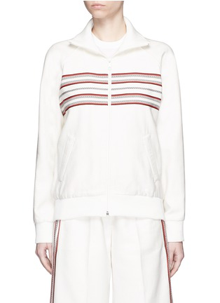 Main View - Click To Enlarge - Hillier Bartley - Stripe embroidery zip track jacket