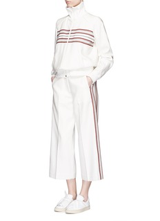 HILLIER BARTLEY Stripe embroidery zip track jacket