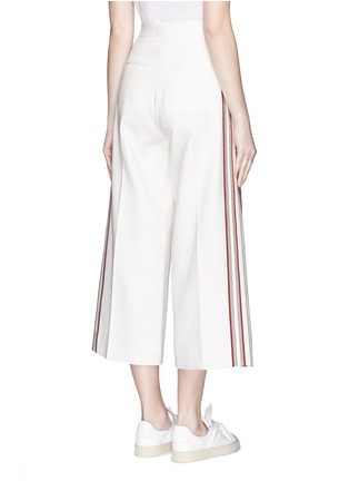 Back View - Click To Enlarge - Hillier Bartley - Stripe embroidery cropped wide leg pants
