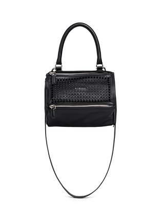 Main View - Click To Enlarge - Givenchy - 'Pandora' small velvet stud leather bag