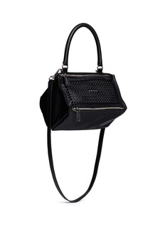 GIVENCHY'Pandora' small velvet stud leather bag