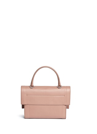 Back View - Click To Enlarge - Givenchy - 'Shark' small leather shoulder bag