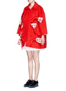 SHUSHU/TONG'Scarlet' oversize bow wool felt coat