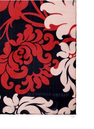 Detail View - Click To Enlarge - Alexander McQueen - 'Victorian Flower Skull' silk chiffon scarf