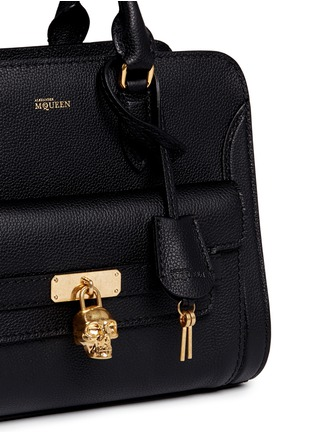 Detail View - Click To Enlarge - Alexander McQueen - 'Padlock' skull pocket leather tote