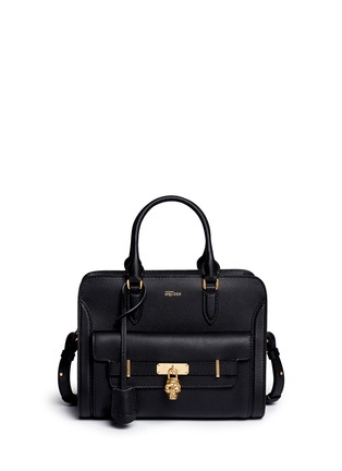 Main View - Click To Enlarge - Alexander McQueen - 'Padlock' skull pocket leather tote