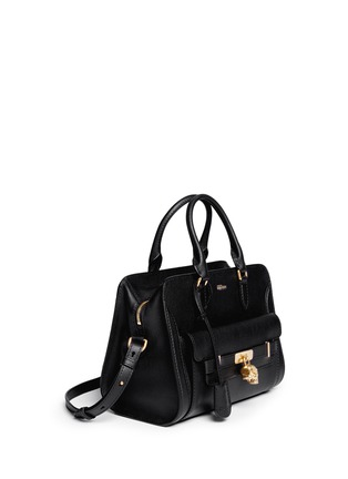 Figure View - Click To Enlarge - Alexander McQueen - 'Padlock' skull pocket leather tote