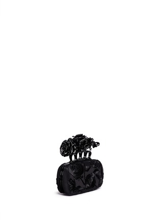 Figure View - Click To Enlarge - Alexander McQueen - Rose embroidery knuckle box clutch