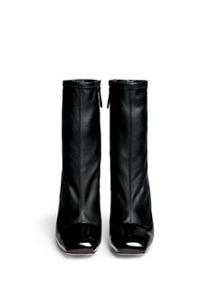 ALEXANDER MCQUEENPerspex heel mix leather boots