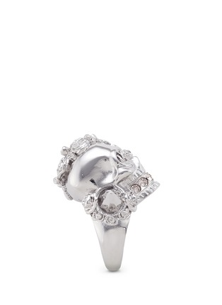 Detail View - Click To Enlarge - Alexander McQueen - Punk rose skull ring