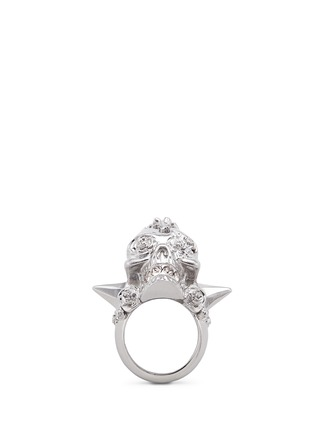 Main View - Click To Enlarge - Alexander McQueen - Punk rose skull ring