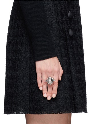 Figure View - Click To Enlarge - Alexander McQueen - Punk rose skull ring