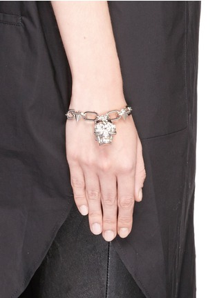 Figure View - Click To Enlarge - Alexander McQueen - Punk rose skull chain bracelet