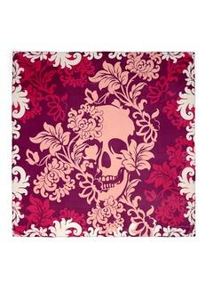 ALEXANDER MCQUEEN'Victorian Flower Skull' silk chiffon scarf