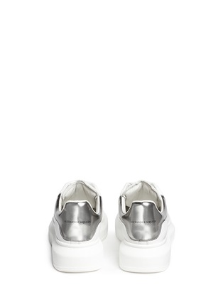 Back View - Click To Enlarge - Alexander McQueen - Chunky outsole leather sneakers