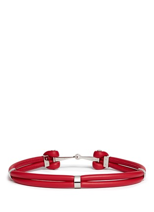 Figure View - Click To Enlarge - Alexander McQueen - Leather rope belt