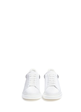 Front View - Click To Enlarge - Alexander McQueen - 'Larry' chunky outsole leather sneakers