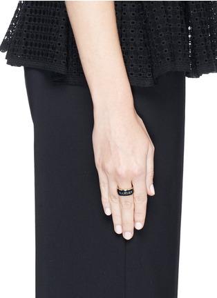 Figure View - Click To Enlarge - Alexander McQueen - Enamel logo ring