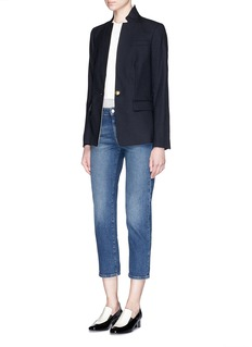 VINCETuxedo insert cotton-modal jersey tunic