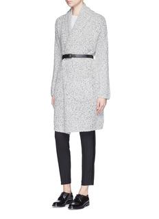 VINCEShawl collar cotton-wool blend knit coat