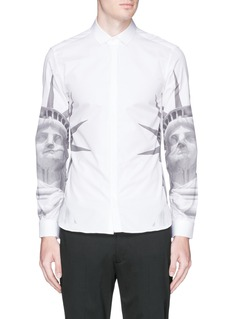 NEIL BARRETT Statue of Liberty cotton poplin shirt