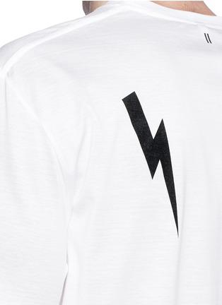 Neil Barrett-Thunderbolt sculpture print T-shirt