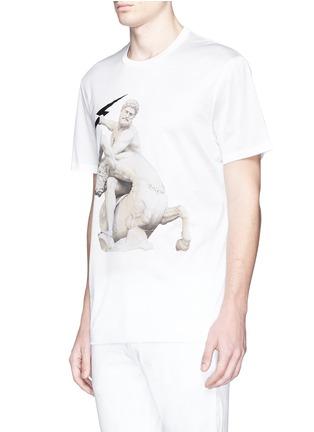 正面 -点击放大 - NEIL BARRETT - Thunderbolt sculpture print T-shirt