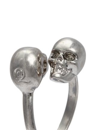 细节 - 点击放大 - ALEXANDER MCQUEEN - 仿水晶骷髅头戒指