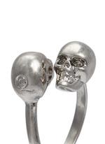 仿水晶骷髅头戒指