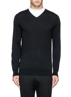 NEIL BARRETTContrast collar insert sweater