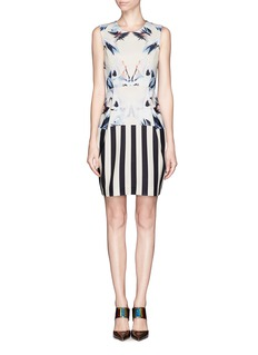MO&CO. EDITION 10Crane print neoprene dress