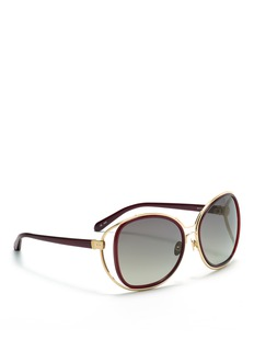 LINDA FARROWDouble frame suspended sunglasses