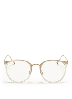 LINDA FARROW Metal rim and temple optical glasses
