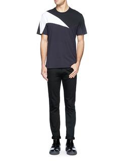 NEIL BARRETTGeometric pattern T-shirt