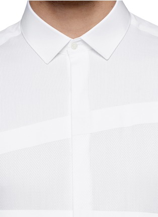 Detail View - Click To Enlarge - Neil Barrett - Irregular stripe panel shirt