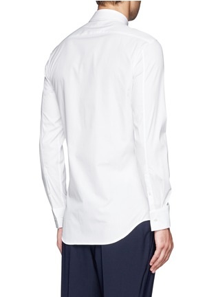 Back View - Click To Enlarge - Neil Barrett - Irregular stripe panel shirt
