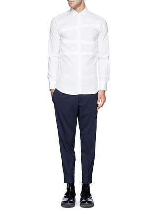 Figure View - Click To Enlarge - Neil Barrett - Irregular stripe panel shirt