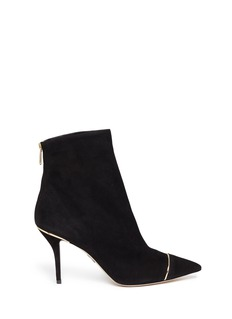 PAUL ANDREW 'Ares' metal trim suede ankle boots