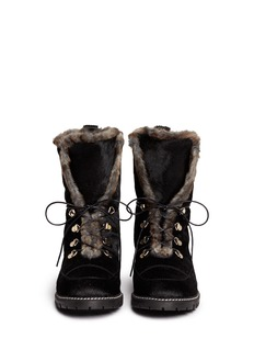 STUART WEITZMAN 'Pony Bobsled' faux fur lining calf hair boots