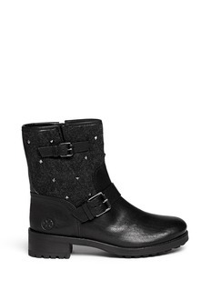 TORY BURCH 'Chrystie' stud quilted leather boots