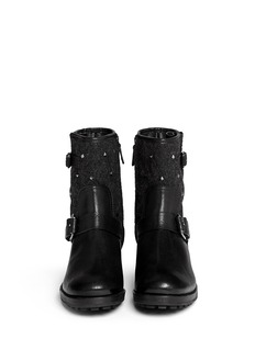 TORY BURCH'Chrystie' stud quilted leather boots