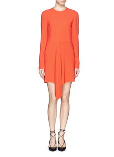 STELLA MCCARTNEYAsymmetric ruffle skirt crepe dress