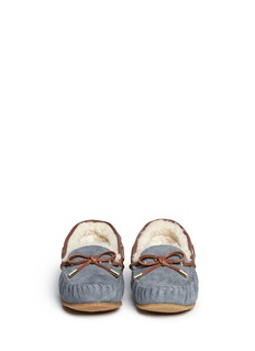 TORY BURCH'Maxwell' suede leather moccasin slip-ons